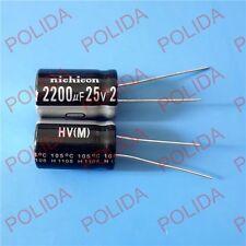 10PCS Electrolytic Capacitor Nichicon SIZE: 13*20mm 2200UF25V / 25V2200UF