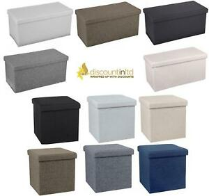 Ottoman Large Storage Chest Box Storage Bedroom Living Room Non-Woven Fabric
