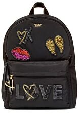 NWT VICTORIA'S SECRET RUNWAY PATCH CITY BLACK BACKPACK SHANGHAI FASHIO SHOW