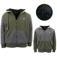 Men's Women's Two Tone Thick Sherpa Fur Jacket Zip Up Hoodie Fleece Coat Jumper