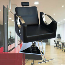 Black Adjustable Hydraulic Pump Barber Reclining Salon Chair Hairdressing Beauty