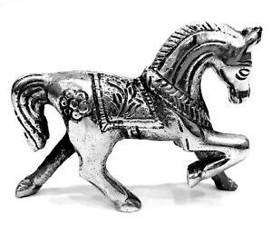 Designer White Metal Horse Statue Traditional Home Decor art 4 Inches