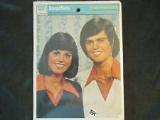 Donny and Marie Readers Sticker Book and Puzzle Never Used