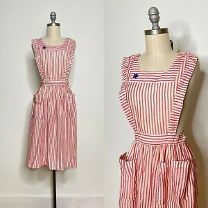 Vintage 60s Candy Striper Pinafore Size Extra Small