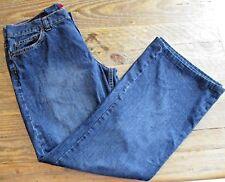 Jordache Lo-Rise 100% Cotton Flare Leg Blue Jeans Size 13/14 Petite Short EUC