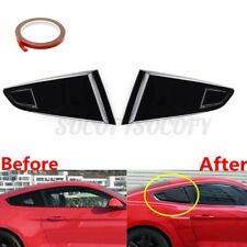 14 Quarter Rear Side Vent Cover Scoop Louvers Black For Ford Mustang 2015 2021 Fits Mustang