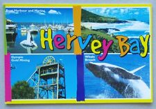 Hervey Bay Boat Harbour Marina Fraser Rainbow Beach Folding Postcard (P225)