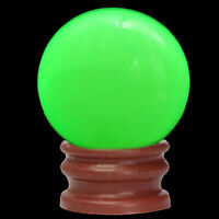 JW_ Green Luminous Quartz Crystal Sphere Ball Glow In The Dark Stone With Base