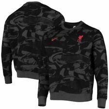 Nike Liverpool FC  2020 2021 Crewneck Pullover Sweat Top New Camo Black Gray