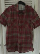 Men's Brand New BHS Red Checked Short Sleeved Shirt Size XL