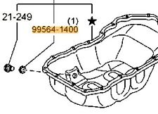 Genuine Mazda CX-3 2013-2018 Engine Oil Sump Drain Plug Washer - 995641400