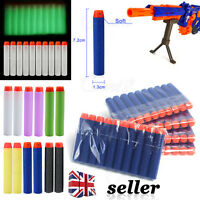 UK 10-840Pcs Kids Toys Soft Nerf Gun Darts Refill Bullet N-Strike Elite Series
