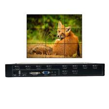 Video Wall Controller 3x3 HDMI DVI VGA USB Input Video Processor for 9 TV Splice
