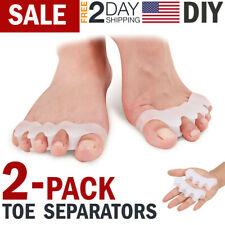 Toe Separator Straightener Stretcher Spreader Toes Spacer Bunion Corrector Pair