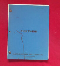 Nightwing revised script by Steve Shagan 1978 based on Martin Cruz Smith book