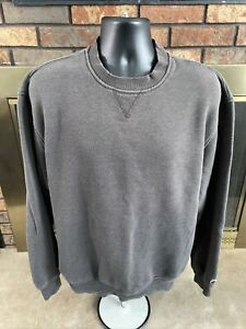 Vintage Champion C Logo Crewneck Sweatshirt Gray Mens Large Tall Authentic Vtg