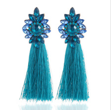 Fashion Women Boho Long Tassel Wire Studs Earrings Dangle Bohemia Jewelry