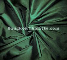 "FOREST GREEN 60"" TAFFETA FABRIC DRAPE DRESS VICTORIAN"