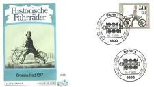 Germany 1985 FDC 1242 Rower Bicycles Bike Fahrrad Vélo Bicicletta