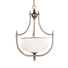 Tuscan Gold And Antique Pewter Chandelier/Pendant