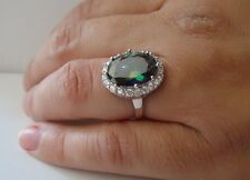 LADIES COCKTAIL RING W/ 4 ct MYSTIQUE AMETHYST   / Sz 7 / 925 STERLING SILVER