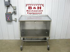 "36"" x 24"" Stainless Steel Heavy Duty Mobile Work Table Cabinet 3' x 2'"