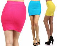 Sexy Seamless Basic Stretch Textured Short Mini Bodycon Pencil Bandage Skirt