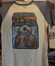 NEW Star Wars R2D2 Men T-Shirt LARGE Biege and gray