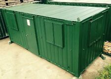 21ft x 8ft Anti Vandal Office & Canteen Container WATERPROOF SECURE UK