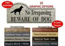 "No Trespassing Beware Of Dog sign with Dog Silhouette - 3 3/8"" x 7 7/8"""