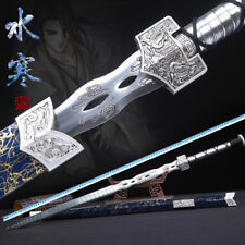 Handmade Chinese High Manganese Steel Wushu Sword Kung Fu Han Jian Full Tang