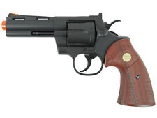 """TSD UHC 4"""" Airsoft Gas Revolver, Black with Wood Grips - SALE"""