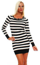 Winter Viscose Dresses Stripes