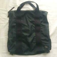 PORTER x MARNI 2Way Backpack Tote Bag Black Sage Green Nylon Used from Japan F/S