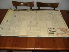 Poster manifesto stampa officina alfaromeo alfa 33 alfasud arna 99x68 cm.
