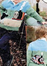 "R349 Childs Thomas Tank Charted DK Cardigan 22-26"" Vintage Knitting Pattern"