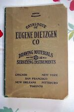 Catalogue of Eugene Dietzgen Co. Drawing Materials & Surveying Instruments, 1912