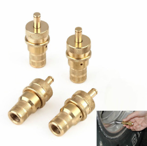 4wd Brass Off-road Automatic Tyre Valve Tire Deflators Kit 6-30PSI  One Set