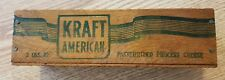 Vintage Kraft American Cheese Wood Box/Crate Primitive Country Decor 2lb VF