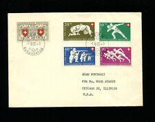 Switzerland 1950 Pro Patria Sports German FDC  Sc B191-55 / Zum B46-50
