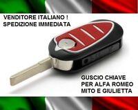 COVER CHIAVE GUSCIO ALFA ROMEO MITO GIULIETTA TELECOMANDO 3 TASTI scocca nuova