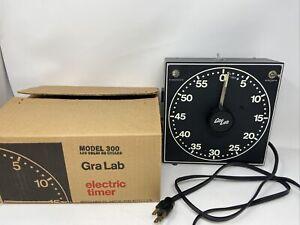 GRALAB Darkroom Timer Model 300 w/ Original Box Glow In Dark Numerals