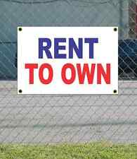 2x3 RENT TO OWN Red White & Blue Banner Sign NEW Discount Size & Price