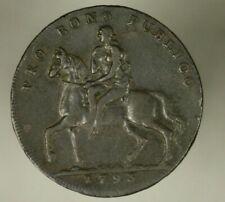 Warwickshire Coventry 1/2 Penny 1793 Conder Token Lady Godiva / Elephant   A1561