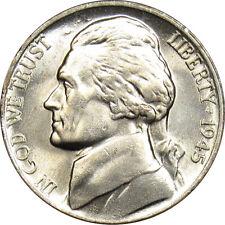 1945-P Jefferson War Nickel GEM BU (Full Steps)