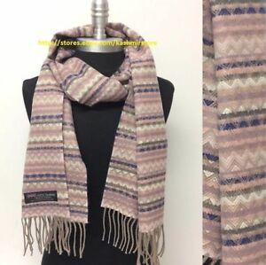 Womens Mens Winter 100% Cashmere Plaid Solid Scarves Wool Scarf Scotland Made