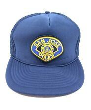 Vintage SJPD San Jose California Police Department Hat Baseball Trucker Hat Cap