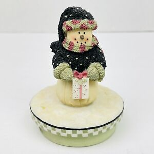 Our America Christmas Snowman with Gift Candle Topper
