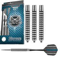 Harrows Graflite 85% Tungsten Steel Tip Darts - Knurled Grip - 22, 24 or 26 Gram