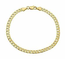 New 9 CT Gold Filled Curb Bracelet for  Mens  22x6MM